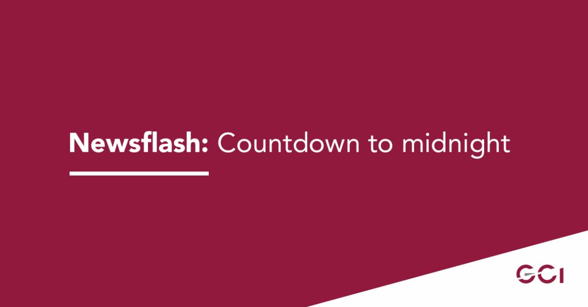 Newsflash: Countdown to midnight