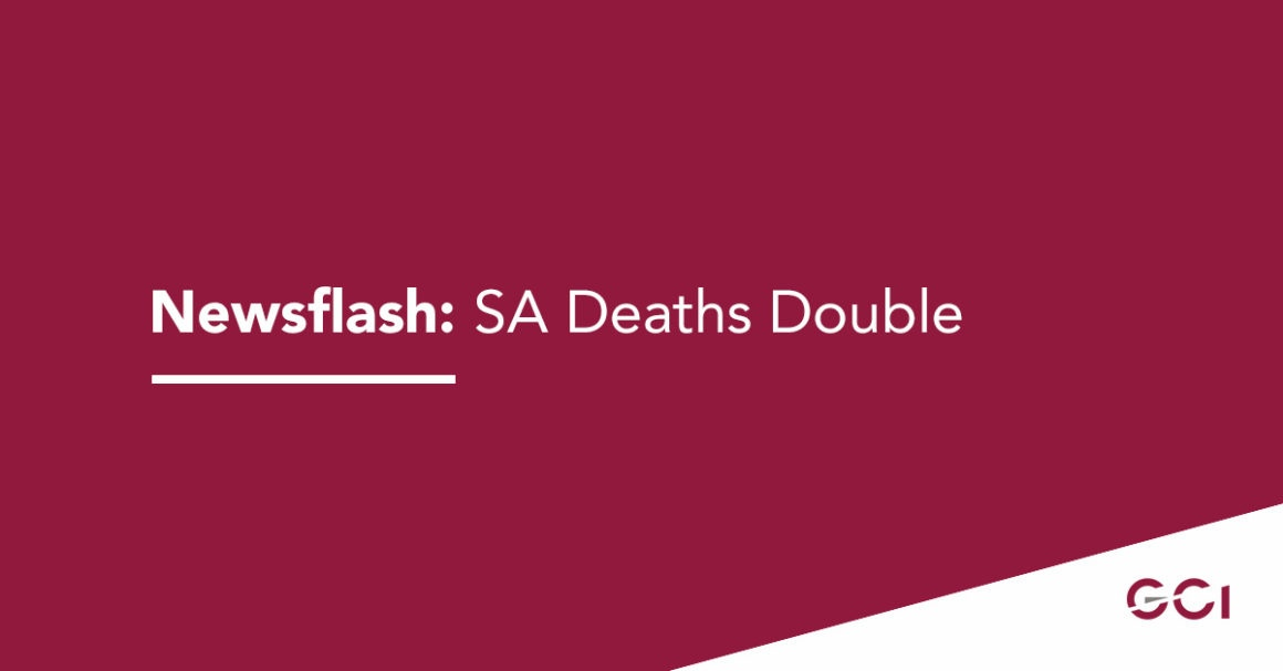 Newsflash: SA Deaths Double